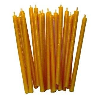 Свеча классическая восковая желтая 15 см, 10 шт., 7770221-29-СЖ