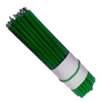 Свеча классическая восковая зеленая 15 см, 10 шт., 7770221-30-СЗ