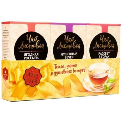 Подарочный набор черного листового чая Altay Herbs, 3 упаковки по 50 г