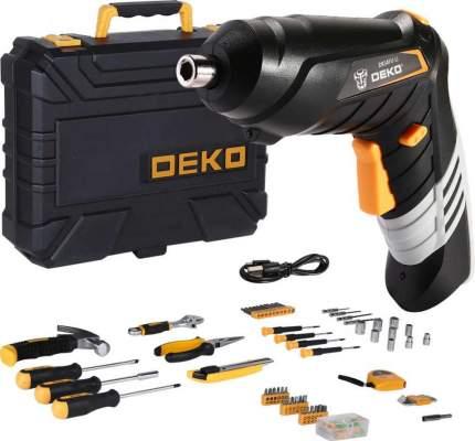 Аккумуляторная отвертка DEKO DKS4FU-Li в кейсе  + набор инструментов 112 предметов