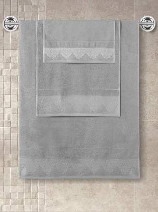Полотенце махровое с жаккардом KARNA SIESTA серое 40х60
