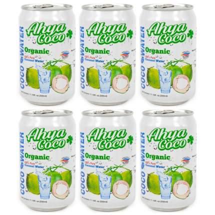 Вода кокосовая Ahya  органическая 6 шт по 330 мл
