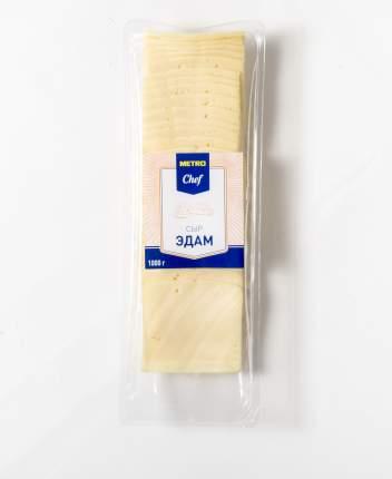 Сыр полутвердый Metro Chef Эдам нарезка 40% 1 кг бзмж
