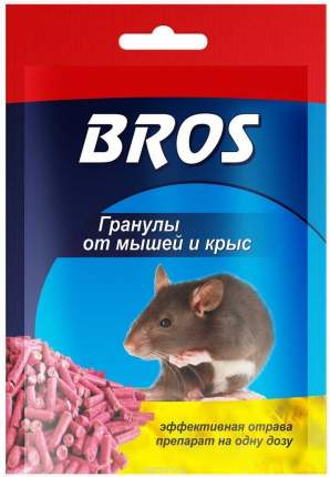 Средство от грызунов Bros 706564 Гранулы от крыс и мышей 90 г