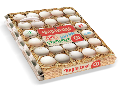 Яйцо куриное Вараксино Деревенское C0 30 шт