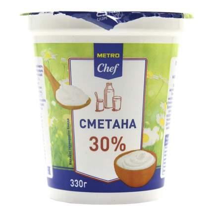 Сметана Metro chef 30% 330 г бзмж