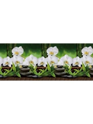 "Кухонный фартук ""Белая орхидея"" 3000х600х1,5 мм,ABS пластик, термоперевод"