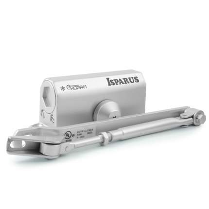Доводчик дверной НОРА-М Isparus 410 морозостойкий (от 15 до 60 кг) - Серебро