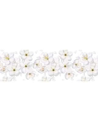 "Кухонный фартук ""Белые цветы"" 3000х600х1,5 мм,ABS пластик, термоперевод"