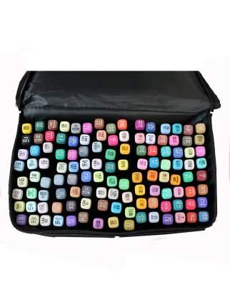 Набор профессиональных двухсторонних маркеров для скетчинга в чехле (120 цветов)