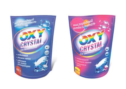 Кислородный отбеливатель Oxy crystal для белого белья 600 г.