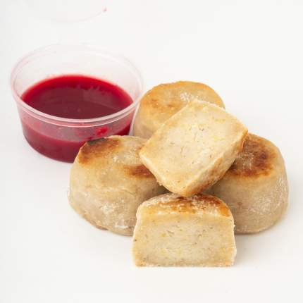 Сырники из пшена с малиновым соусом Ecomarket 4 шт +- 200 г