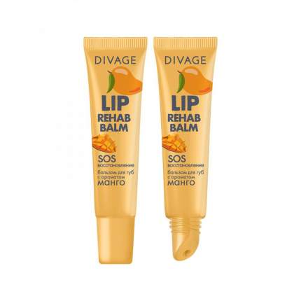 Бальзам для губ Divage lip rehab balm с ароматом манго