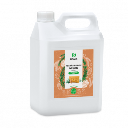 Мыло жидкое хозяйственное с маслом кедра Grass , 5 кг.
