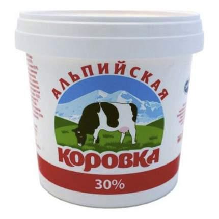 Сметанный продукт Альпийская Коровка 30 % 900 г