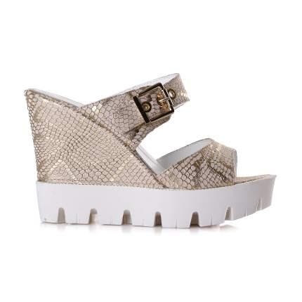 Сабо женские Shoes Market 25-15-613-1-B47 золотистые 38 RU