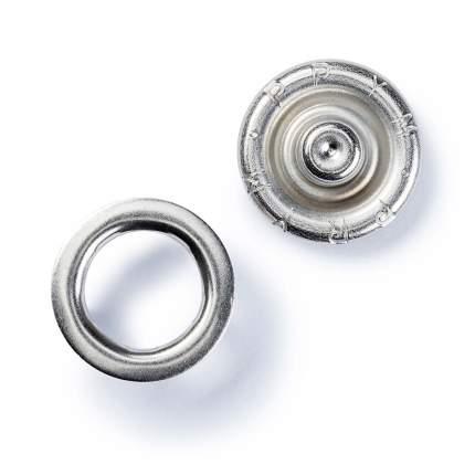 """Кнопки """"Джерси"""" для легких тканей, 8 мм, нержавеющая латунь, цвет: серебристый, 10 штук"""