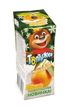 Молочный коктейль Топтыжка мандарин пастеризованный 0,2 л бзмж