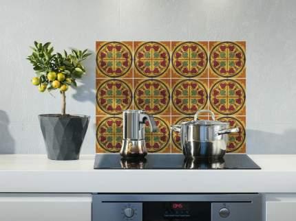 Наклейка на стену для кухни, ванной Плитка с растительным узором 40 шт. 15х15 см