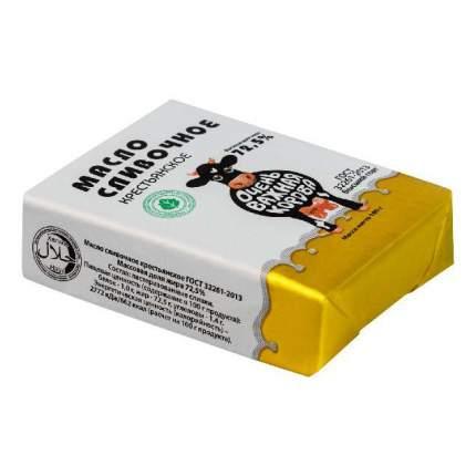 Сливочное масло Очень важная корова сливочное крестьянское 72,5% 180 г бзмж