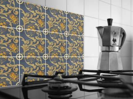 Наклейка на стену для кухни, ванной Плитка с цветочными узорами 12 шт. 20 х20 см