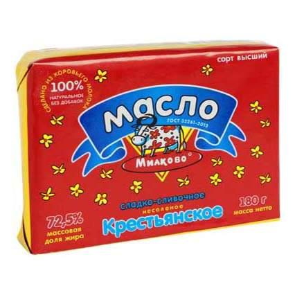 Сливочное масло Милково 72,5% 180 г