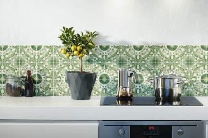 """Наклейка на стену Плитка с  растительным узором """"Цветы""""  40 шт. 10х10 см"""