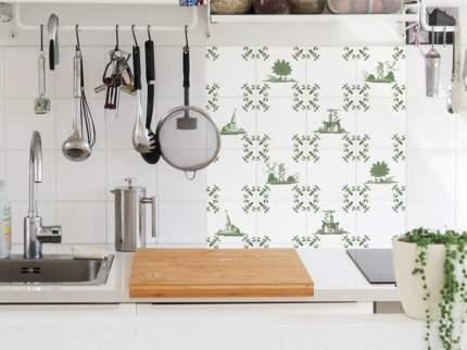 Наклейка на стену для кухни/фартука/ванной Голландская плитка 24 шт. 10х10 см