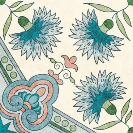 """Наклейка на стену Плитка с цветочными узорами  """"Гвоздики"""" 12 шт. 15х15 см"""
