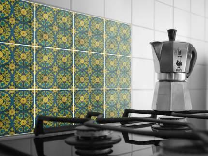 Наклейка на стену для кухни, ванной Плитка с растительным узором 40 шт. 20 х20 см
