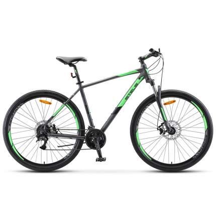 "Велосипед Stels Navigator 920 MD V010 2021 18.5"" антрацитовый/зеленый"