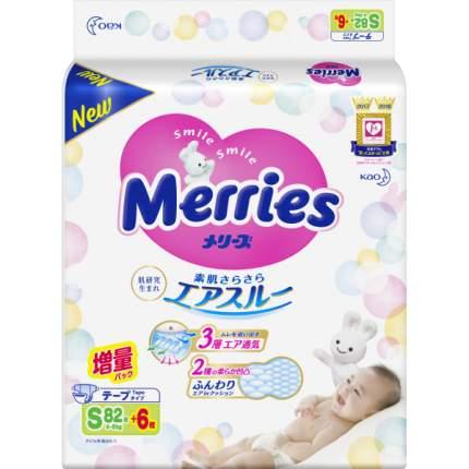 Подгузники Merries S (4-8 кг), 82 + 6 шт.