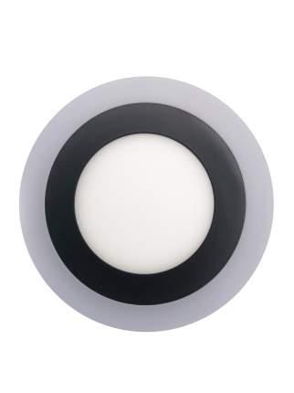 ELVAN 500R-6/3-3000/4000K-Bk Светильник светодиодный накладной круглый черный