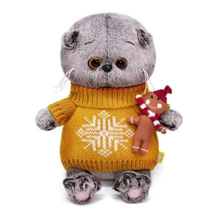 Мягкая игрушка Basik&Ko Басик Baby, в оранжевом свитере, 20 см