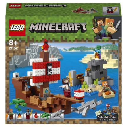 Конструктор LEGO Minecraft 21152 Приключения на пиратском корабле