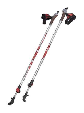 Палки для скандинавской ходьбы STC Walker, серебристый/красный, 100-135 см