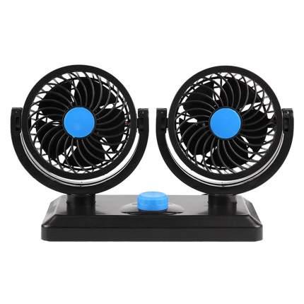 Двойной вентилятор CarBull в салон автомобиля 12V, цвет черный, 20х16,3 см, CB-VENT-01