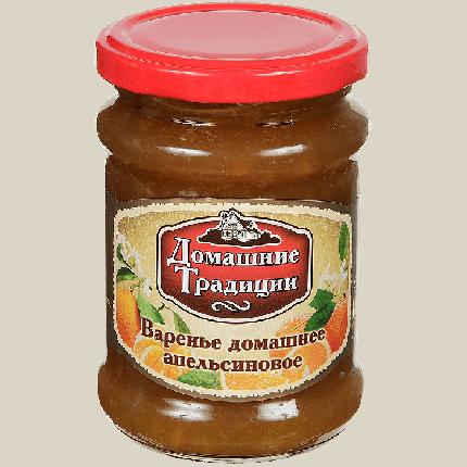 ДТ  Варенье домашнее АПЕЛЬСИНОВОЕ  ГОСТ 350г (12) ст/б
