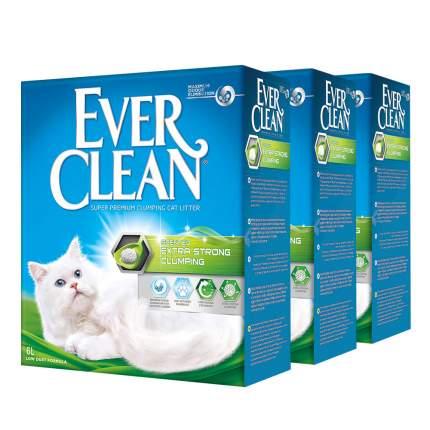 Комкующийся наполнитель для кошек Ever Clean Extra Strong глиняный, с аром, 6 кг, 6 л, 3шт