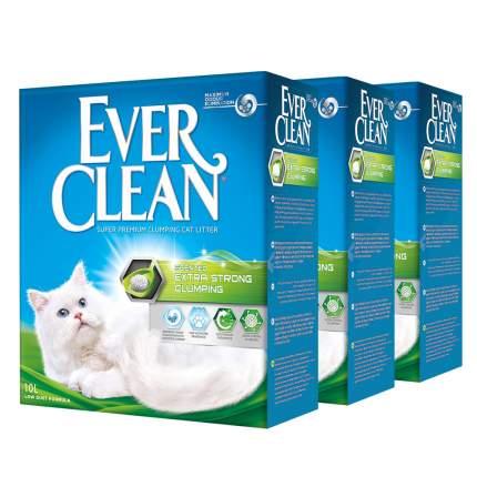 Комкующийся наполнитель для кошек Ever Clean Extra Strong глиняный, с аром, 10кг, 10л, 3шт