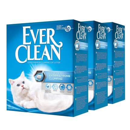 Комкующийся наполнитель для кошек Ever Clean Extra Strong глиняный, 6 кг, 6 л, 3шт
