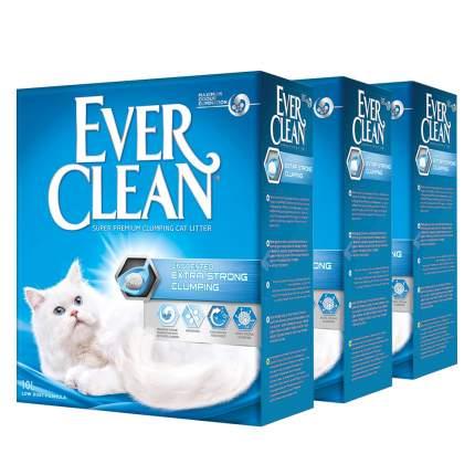 Комкующийся наполнитель для кошек Ever Clean глиняный, без аром. 10 кг, 10 л, 3шт