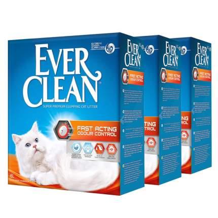 Комкующийся наполнитель для кошек Ever Clean Fast Acting глиняный, 6 кг, 6 л, 3шт