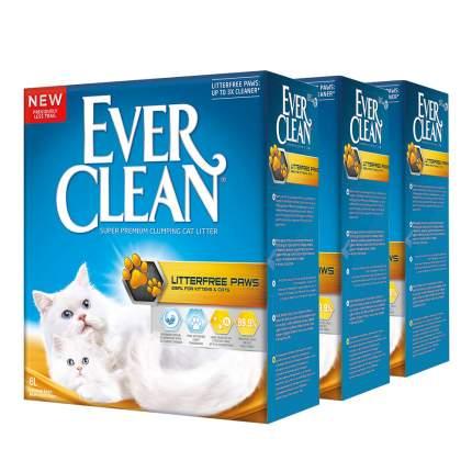 Комкующийся наполнитель для кошек Ever Clean Litter free Paws глиняный, 6 кг, 6 л, 3шт