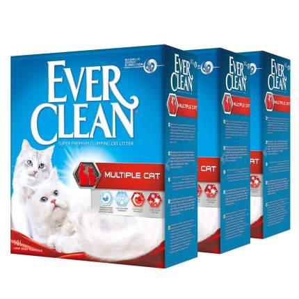 Комкующийся наполнитель для кошек Ever Clean Multiple Cat глиняный, 10 кг, 10 л, 3шт