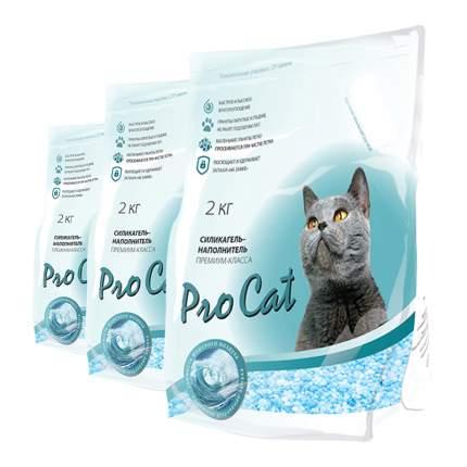 Впитывающий наполнитель для кошек Pro Cat премиум микс, силикагелевый, 2.03 кг, 2 л, 3шт