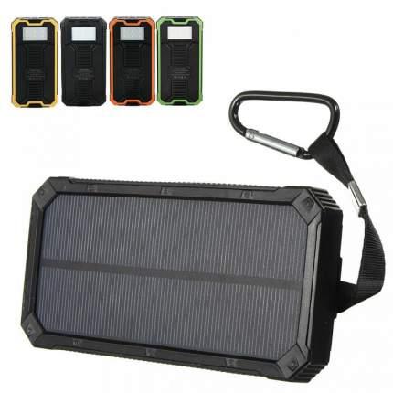 Водонепроницаемый внешний аккумулятор LEORY на солнечной батарее, 10000 мАч, черный