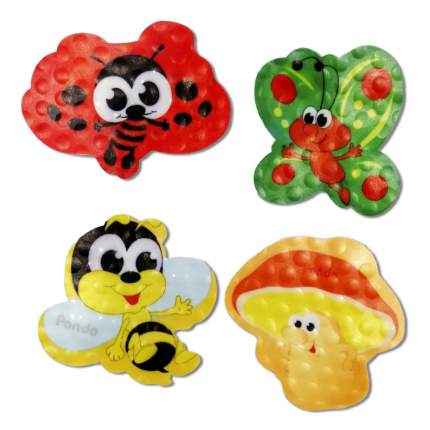 Набор мини-ковриков для ванны PondoKids Полянка , 4 шт