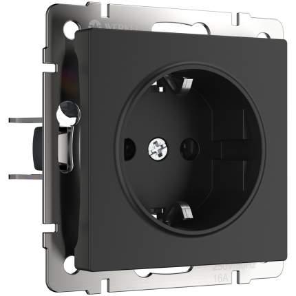 Розетка с заземлением (черный матовый) Werkel W1171008