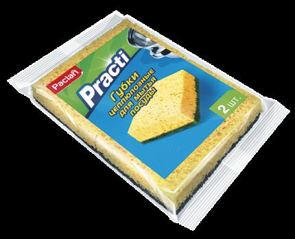 Губки для посуды PACLAN Practi целлюлозные, 2шт.